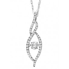 #ROL1001 Dancing Diamonds Pendant in 14K White Gold - 3/8 ctw