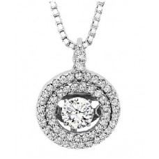 #ROL1004 Dancing Diamonds Pendant in 14K White Gold - 3/8 ctw