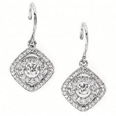 #SD13E28-.50. Dancing Diamonds Earrings 1/2ctw