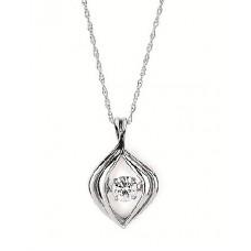 ##SD13P24-.16 Dancing Diamonds Pendant in 14k White Gold 1/5ctw