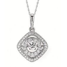 #SD13P28-.50 Dancing Diamonds Pendant 1/2ctw